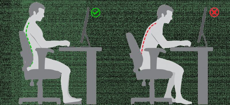 silla gaming postura