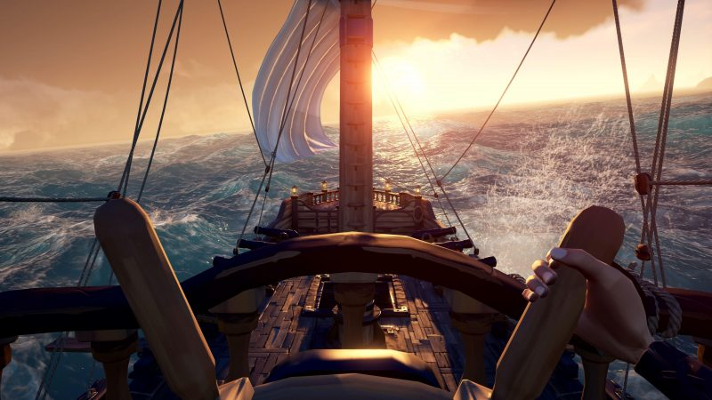 Sea of thieves puesta de sol
