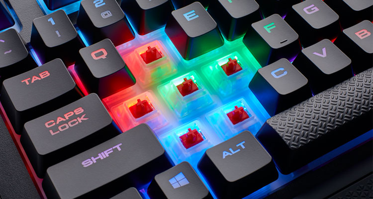 teclado gaming switch rojo