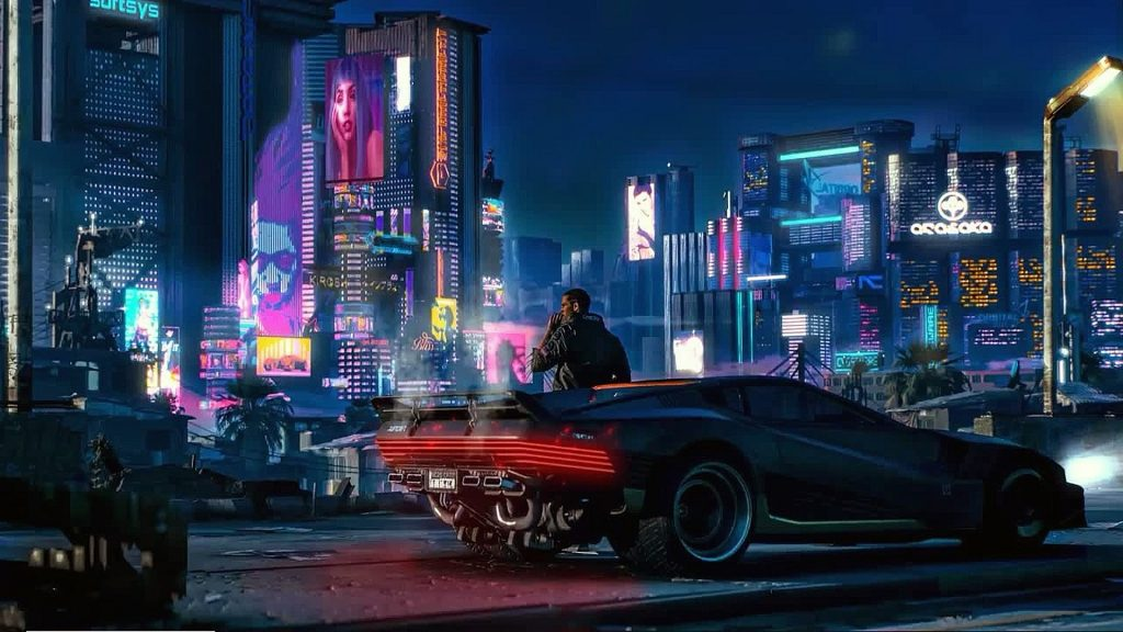 cyberpunk 2077 V on a car