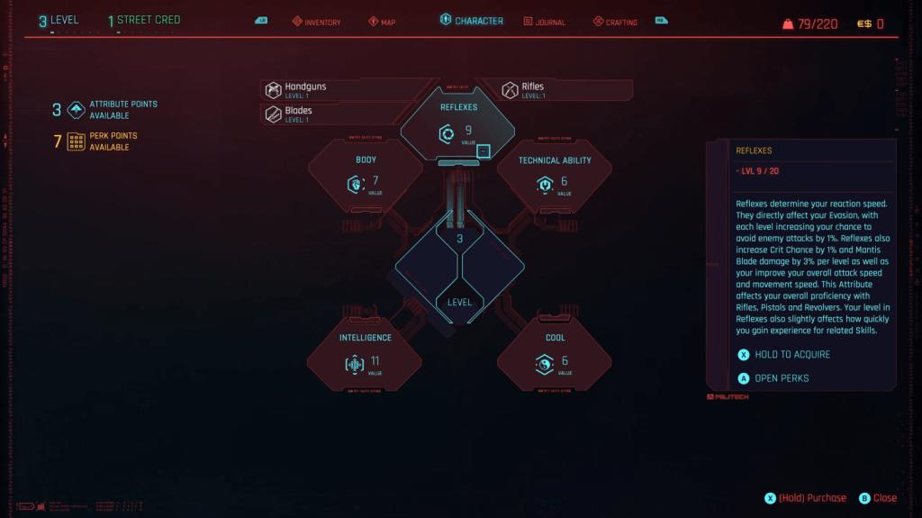 Cyberpunk 2077 habilidades