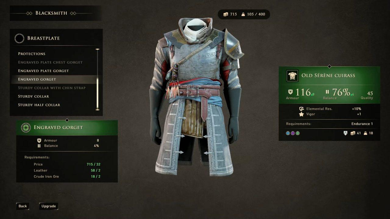 greedfall armadura