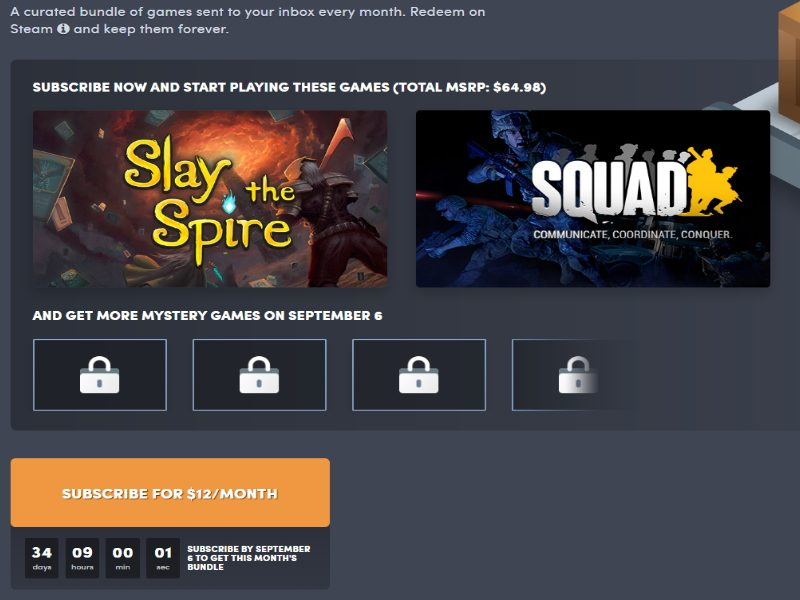 Humble Bundle agosto