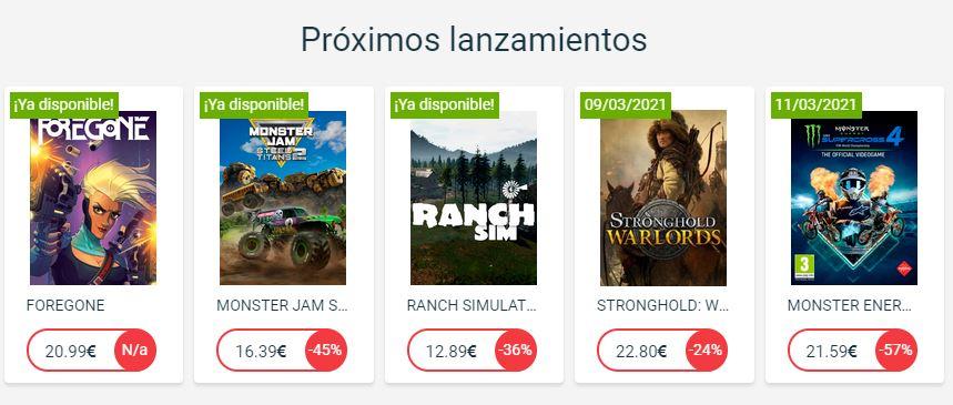 ofertas de videojuegos