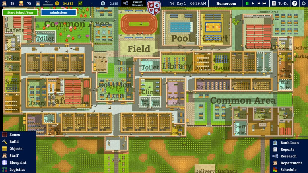 mapa academia school simulator